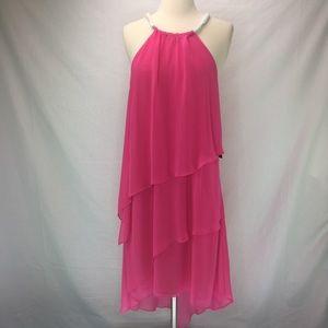 Laundry Shelli Segal Tiered Chiffon Flowing Dress